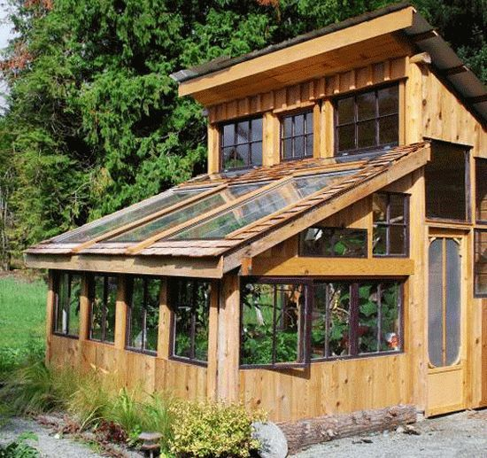 classic timber greenhouse